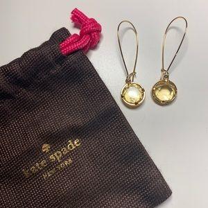 Kate Spade long crystal threaded earrings
